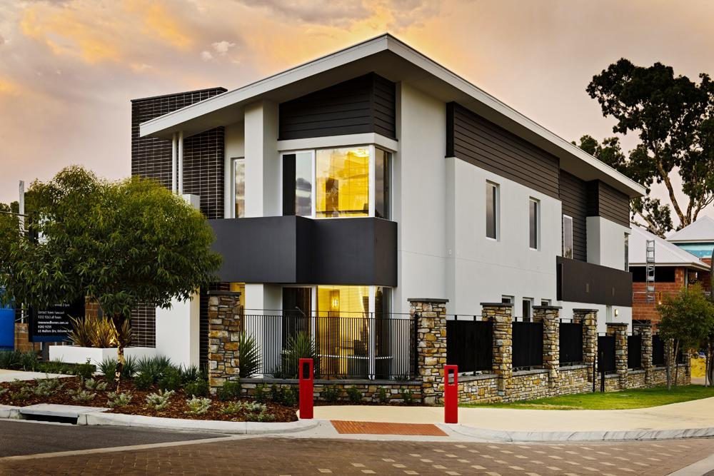 Narrow lot two storey display homes perth renowned for Narrow lot home builders perth